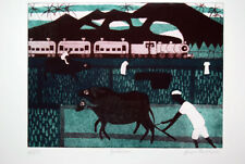 Julian Trevelyan Buffaloes 1968  Signed Art Print Etching, with Aquatint