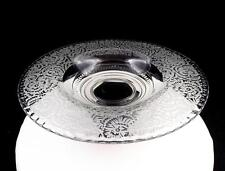 """PADEN CITY GLASS FROST PATTERN CLEAR LARGE 12 5/8"""" FLARED BOWL"""