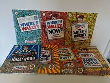7 x Where's Wally? Book Bundle Kids Puzzle Activity Books Now Hollywood Wonder