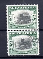 South Africa 1947 5/- pair fine used SG122A WS15697