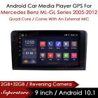 9  Android 9.1 Car Media Player GPS Head Unit For Mercedes Benz ML-GL Series