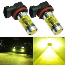 2Pcs H16 High Power 100W 360° Angle 3000K Golden Yellow Fog Light Lamp LED Bulbs