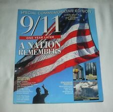 9/11 ONE YEAR LATER SPECIAL HISTORICAL COLLECTIBLE MAGAZINE - NATION REMEMBERS