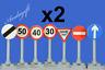 LEGO city car road signs no entry, one way, give way 30 40 50  road signs train