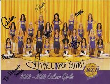 GENUINE AUTOGRAPHED HAND SIGNED 2013 LAKER GIRLS 6 SIGNATURES Poster COA FreeS&H