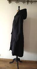RARE et original long manteau noir à capuche de la créatrice ANA NONZA TXL 40 42