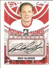 2012-13 ITG MOTOWN MADNESS Bruce MacGregor AUTOGRAPH CARD SIGNED