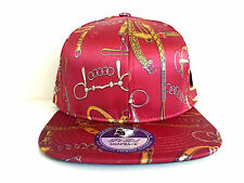 BELT DESIGNS SATIN RED SNAPBACK CAP