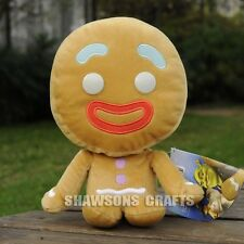 """SHREK MOVIE CHARACTER PLUSH STUFFED TOY 9"""" GINGY GINGERBREAD MAN SOFT DOLL"""