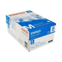 "Staples 8.5"" x 11"" Multipurpose Paper 20 lbs. 94 Brightness 500/RM 8 RM/CT"