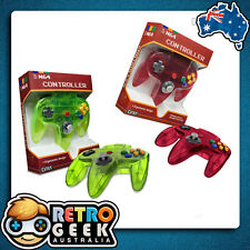 Genuine Style - NINTENDO 64 WATERMELLON Red / LIME Green Controller N64 Joystick