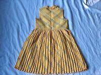 NWOT Janie and Jack girls yellow pleated dress size 6