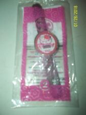 MCDONALD'S HELLO KITTY #2 HELLO KITTY BROWN FLORAL WATCH 2008 NIP