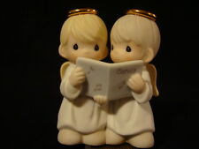 zf Precious Moments-Angels Caroling-RARE Mini Nativity Addition n/b