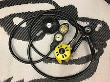 US Divers / Aqualung Conshelf Regulator Set with Octo and Subgear 2 Gauge