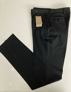 "AUTHENTIC Mens Burberry LONDON ""STIRLING"" Black 100% WOOL Dress Pant (34)"
