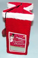 Better Homes and Gardens felt bag with photo pocket, Christmas Memories #23303