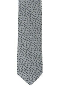 D'AVENZA Sartorial Tie Silk Pois Gray Hand-Sewn in Italy / 56.29 inch