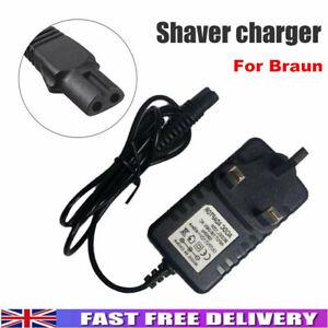UK Plug Shaver Razor Charger Power Lead Fit For Braun Epilator Silk Epil 12V