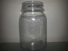 4 16 OZ Clear Plastic Mason Jars Cup Wedding Favors BPA FREE! ~MADE IN THE USA~