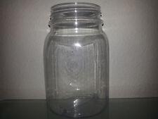 12 16 OZ Clear Plastic Mason Jars Cup Wedding Favors Canning BPA FREE!