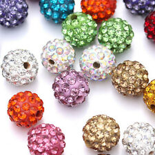 20 Quantity Czech Crystal Rhinestones Pave Clay Round Disco Ball Spacer Bead 8mm