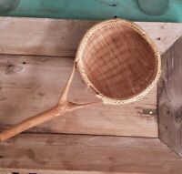 Vintage BOHO Woven Wicker Basket Scoop Spoons/Ladles---(C)
