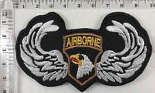 AIRBORNE 101st U.S Army Screaming Eagle Sew Iron On Embroidered Badge Patch A289