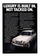 "1975 Volvo 164 Sedan photo ""Luxury is Built In. Not Tacked On."" promo print ad"