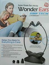 Wonder Ears Wireless Voice Sound TV Amplifier Spy Hard of Hearing Aid Device