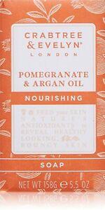 Crabtree & Evelyn Nourishing Soap, Pomegranate & Argan Oil, 5.5 oz