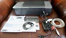 HP Deskjet 1000 Printer J110A USB, Power Cables 61XP Black, Color Ink Disk WORKS