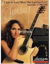 1999 LARRIVEE C-10 Acoustic Guitar JENNIFER CORDAY Vtg Print Ad