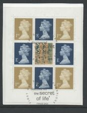 Gb 2003 booklet Pane Sg1668m fine used set stamps on piece