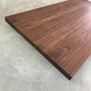 Platte Nussbaum Massiv Holz Tischplatte Arbeitsplatte Waschtischplatte