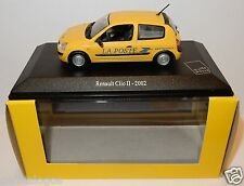 UH UNIVERSAL HOBBIES RENAULT CLIO II 2002  POSTES POSTE PTT BOX 1/43 luxe BOX