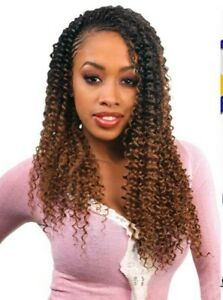 Passion Twist FreeTress Braids Water wave Crochet hair extensions