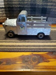 Metal FARM truck Silver Galvanized NEW