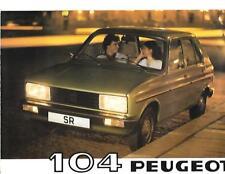PEUGEOT 104 CAR RANGE SALES BROCHURE 1980