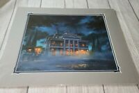 Disney Parks HAUNTED MANSION AT MIDNIGHT Deluxe Print John Nadeau Night NEW