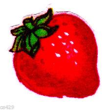 "1.5"" Strawberry shortcake strawberry mini fabric applique iron on character"