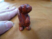 (Y-Bea-St-552) Stand Red Jasper Bear Gem stone carving Figurine gemstone bears