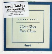 (FL392) Cherry Ghost, Clear Skies Ever Closer - 2014 DJ CD