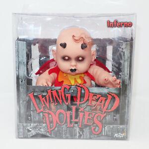 "2004 MEZCO TOYZ LIVING DEAD DOLLS DOLLIES SERIES 2 INFERNO 10"" HORROR BABY BOXED"