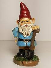 "5"" tall garden gnome with shovel"