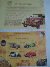 2017 India Miniature Sheet on Vintage Cars(Rolls Royce, Austin, Chevrolet, Ford)