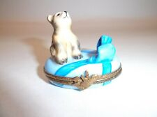 Peint Main Limoges Trinket-Announcing The Birth Of A Baby Boy