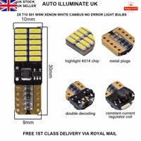 2 x T10 501 W5W 24 LED SMD SIDE LIGHT BULBS LAMP NO ERROR CANBUS XENON WHITE 12v