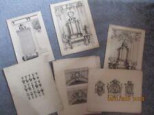 Lot de 20 Gravures XIXème siècle Péquegnot