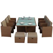 Sets de muebles de jardín salón exterior color principal marrón